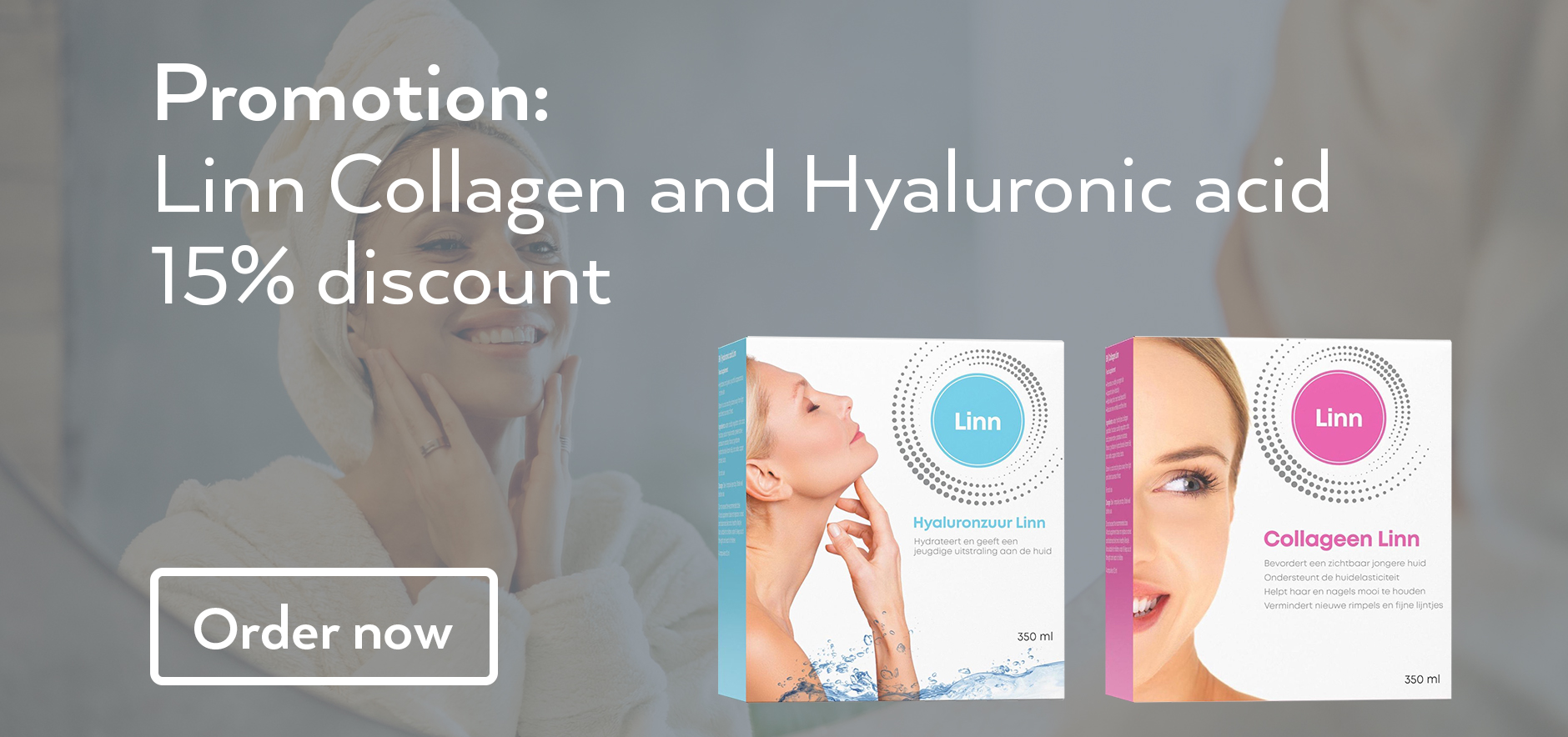 15% discount Linn Collagen and Hyaluronic Acid