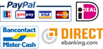 You can pay your Hair fibers with PayPal, Mister Cash or Direct E-Banking