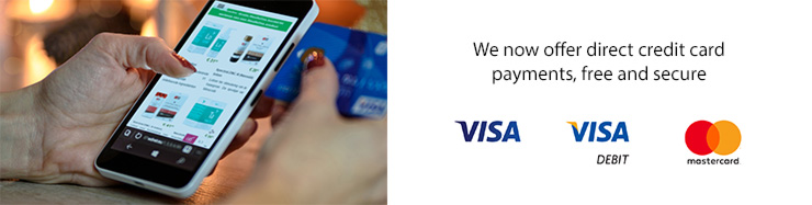 Easy and secure credit card payment
