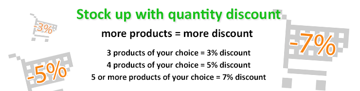 Get discounts with your quantity discount
